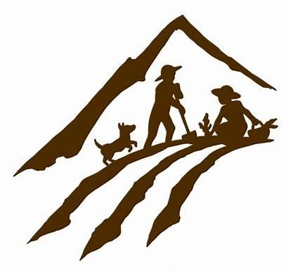 Mountain Clipart Farmer Farm Agriculture Clip Silhouette