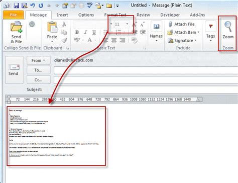 Office 365 Outlook Zoom by Adjusting Outlook S Zoom Setting In Email