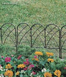 decorative garden fencing reed and cane garden fence