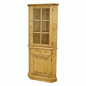 Meuble D Angle : meuble d 39 angle haut vitr pin massif ~ Teatrodelosmanantiales.com Idées de Décoration