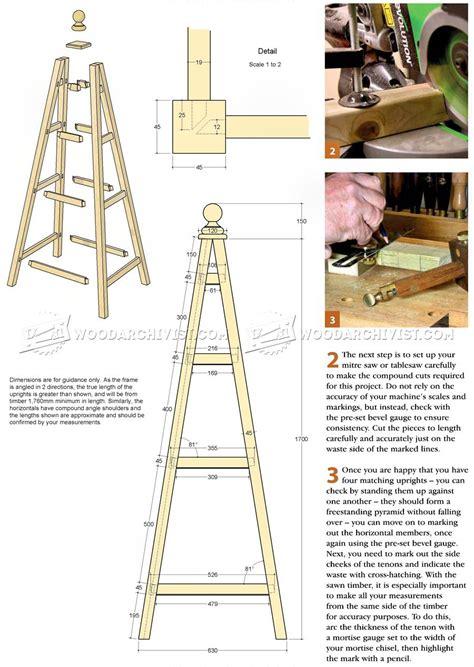 garden obelisk plans woodarchivist