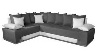 duo plus canap 233 d angle convertible r 233 versible design gris fonc 233 et blanc les docks du meuble