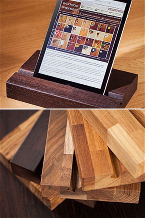 solid wood ipad stands wooden tablet holders worktop