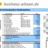 Beschäftigungsgrad Berechnen : verrechnungssatz f r ein arbeitssystem ermitteln download business ~ Themetempest.com Abrechnung