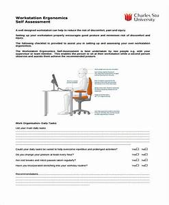 35 self assessment form templates pdf doc With ergonomic assessment template