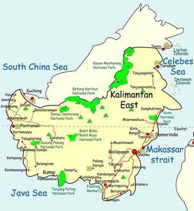 kalimantan indonesia map indonesia land   love