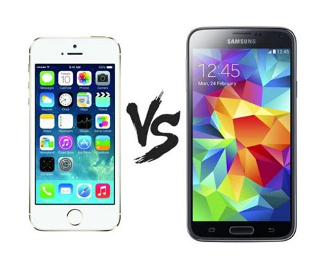 galaxy s5 vs iphone 5s samsung galaxy s5 vs apple iphone 5s which one is for