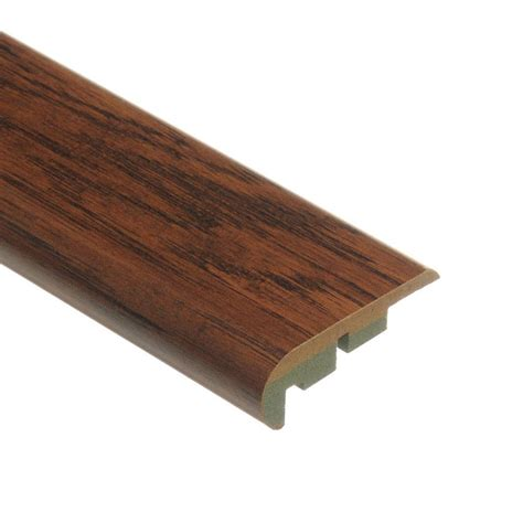laminate stair nose moulding zamma distressed brown hickory 3 4 in thick x 2 1 8 in wide x 94 in length laminate stair