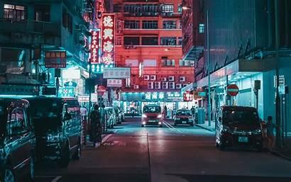 Street Night Lights 4k Cars Ultra Buildings