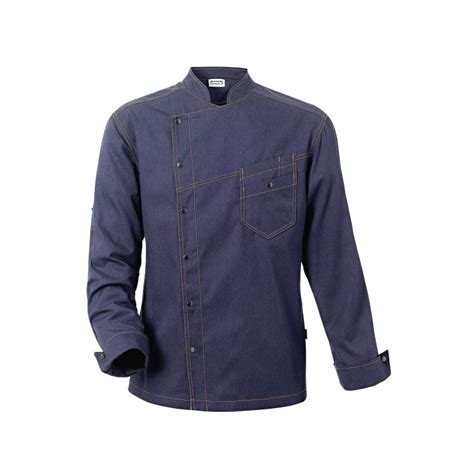 vestes de cuisine veste de cuisine district bleue denim