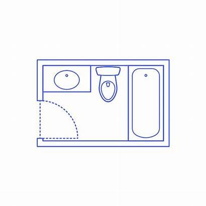 Dimensions Bathroom Shower Bathtub Drawing Fixtures Layouts
