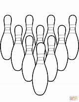 Bowling Coloring Pins Pages Printable Ten Drawing Ball Stencil Colouring Template Sketch Dot Categories sketch template