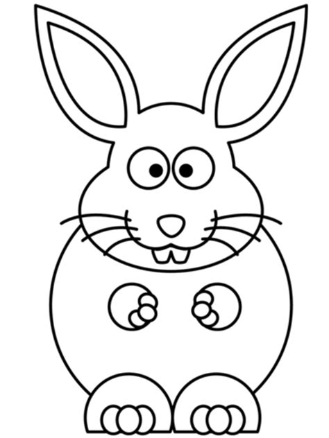 cartoon bunny coloring page  printable coloring pages