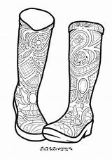 Boots Rain Coloring Drawing Colouring Adult Boot Getdrawings Hand sketch template