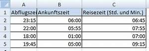 Excel Arbeitszeit Berechnen Formel : datum und zeitberechnung mit excel office ~ Themetempest.com Abrechnung