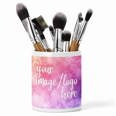 Brush Holder Ceramic Organiser Makeup Personalised