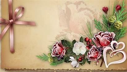 Valentine Hearts Flowers Pink Wallpapers Nature Desktop
