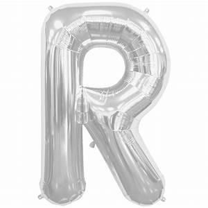 34quot 86 cm silver letter shaped foil balloons northstar With letter shaped balloons