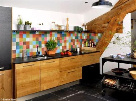 cuisine coloré carrelage cuisine colore