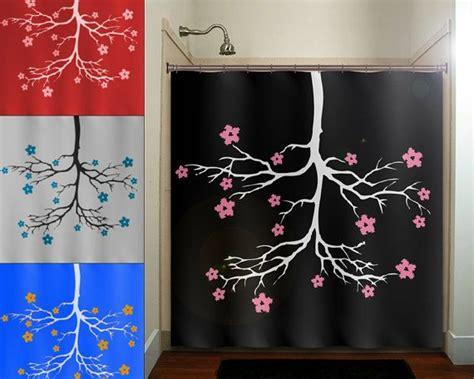 chandelier cherry blossom flower tree shower curtain