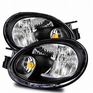2003 2005 Dodge Neon Euro Style Crystal Headlights Black