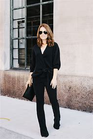 Black and Gold Pant Suits