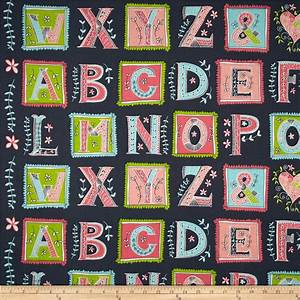 love letters alphabet multi discount designer fabric With fabric alphabet letters for sale