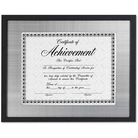 dax contemporary wood documentcertificate frame silver
