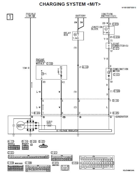 mitsubishi lancer ignition switch wiring diagram engine wiring lancer wiring diagram charging system ignition