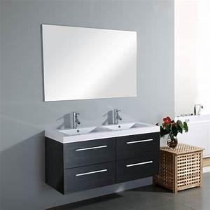 meuble vasque salle de bain lapeyre kirafes With meuble salle de bain double vasque brico leclerc