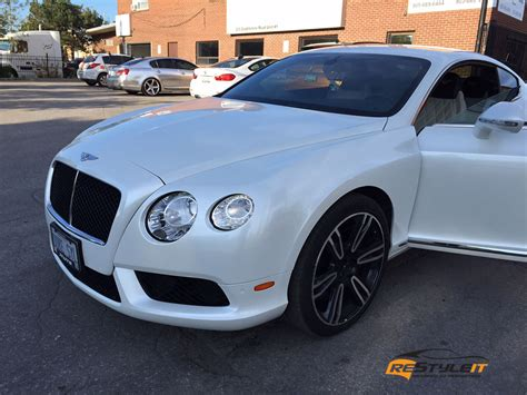 Pearl White Bentley Continental Gt