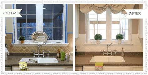 painting kitchen tile backsplash painted ceramic tile backsplash in my kitchen a year