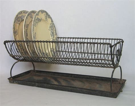 french vintage wire dish rack wire ware dish drain sold  ruby lane