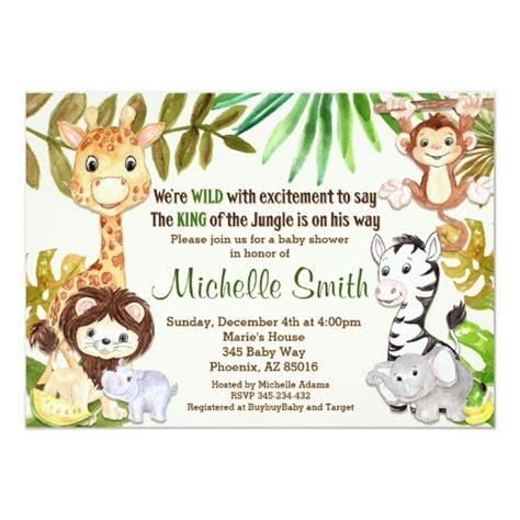 jungle baby shower invitation safari invitation zazzlecom