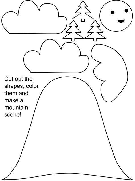 preschool cut outs color cut and paste worksheets free worksheets library 225
