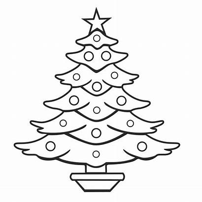 Christmas Coloring Pages Tree Desktop Backgrounds