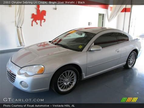 2003 Chrysler Sebring Lxi Coupe by Bright Silver Metallic 2003 Chrysler Sebring Lxi Coupe
