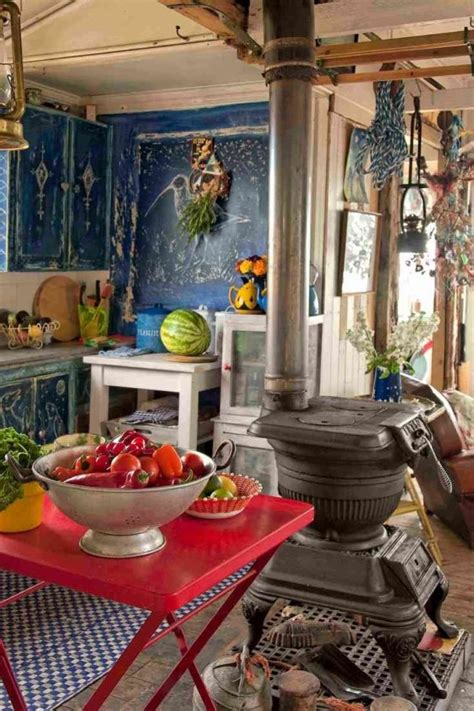 colorful boho chic kitchen designs digsdigs