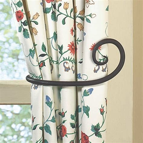 tie backs black wrought iron curtain tie back 5 1 8 quot