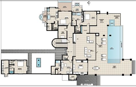 Floors Plans : The Beach House