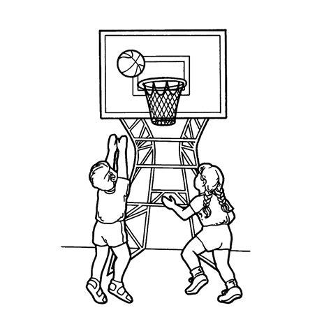 Kleurplaat Basketbal by Leuk Voor Basketbal 0008