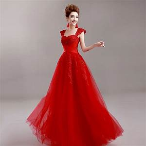 red evening dress 2015 bride party dress plus size lace With robe de gala rouge