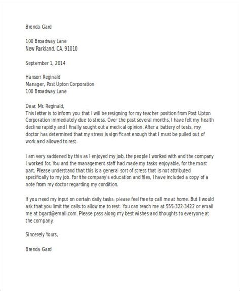 resignation letter examples    examples