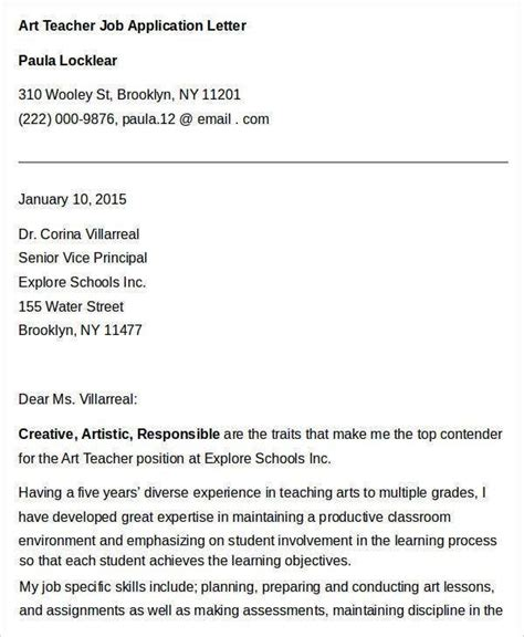 It's also referred to as a letter of intent and statement of interest. letter of application for art teacher position - Yahoo ...