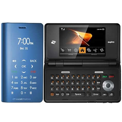 Sanyo Mobile by New Sanyo Innuendo 6780 Boost Mobile Phone Blue Cheap