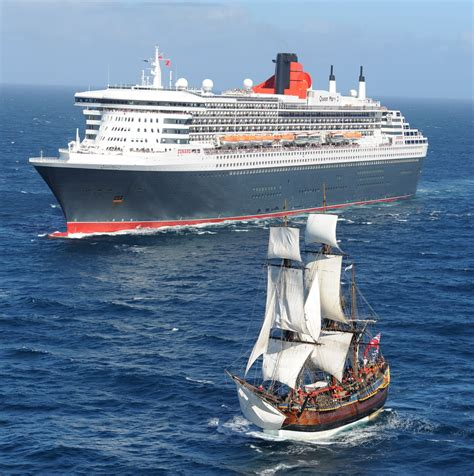 Carnival Australia - Cunard's Queen Mary 2 with HMB Endeavour