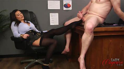Lady Voyeurs - Fetish CFNM scene with busty brunette - PornDoe