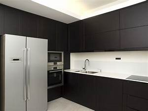 modern black kitchens easstcom interiors kitchen view With kitchen colors with white cabinets with metal tree wall art kohls