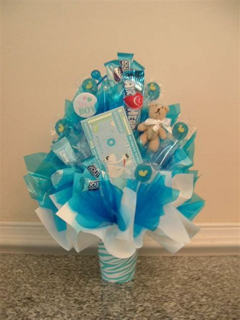 edible centerpieces for baby shower it s a boy bouquet edible centerpiece at