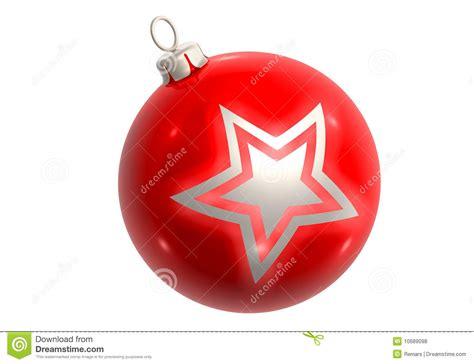 red glitter ball  star royalty  stock